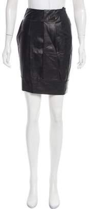 Lafayette 148 Leather Knee-Length Skirt