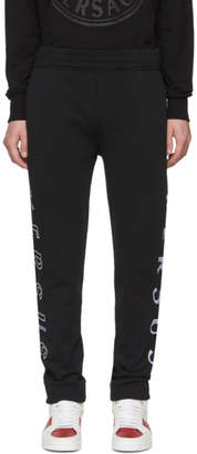 Versus Black Holographic Logo Lounge Pants