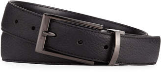 Neiman Marcus Smooth Pebbled Leather Belt