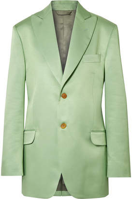 Acne Studios Jaria Oversized Satin-twill Blazer - Light green