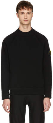 Stone Island Black Wool Arm Badge Sweater