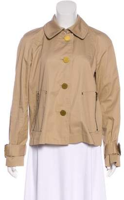 Tory Burch Zip-Accented Button-Up Jacket