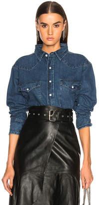 Miss Sixty Palmer Girls x Vintage Cropped Denim Shirt