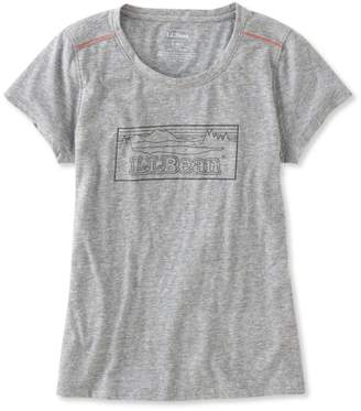 L.L. Bean L.L.Bean Back Cove Heathered Tee, Graphic