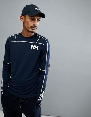 Helly Hansen Lifa Active Light Long Sleeve Base Layer In Navy