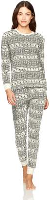 Burt's Bees Women's Adult Organic Tee & Pant Pajama Set Sleepwear, -, X Large