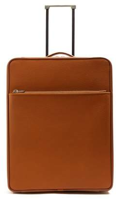Valextra Leather Cabin Suitcase - Mens - Tan