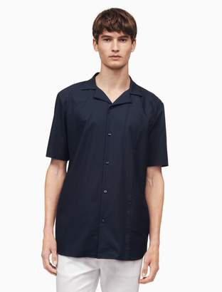 Calvin Klein classic fit camp collar dobby shirt