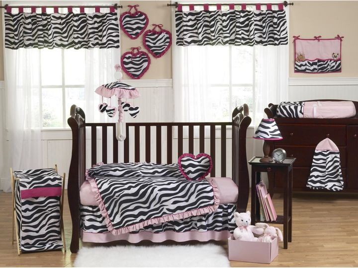 JoJo Designs Sweet Funky Zebra Crib Bedding Collection in Pink