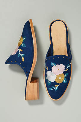 Anthropologie Soludos x Floral Embroidered Mules