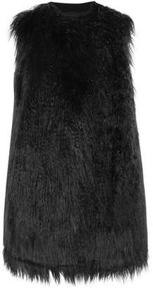 Theory Nyma Faux Shearling And Crepe Gilet