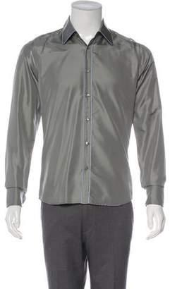 Prada Satin French Cuff Shirt
