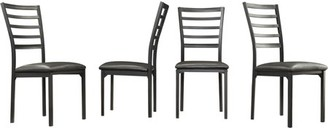 Weston Home Metal Side Chairs, Set of 4, Black