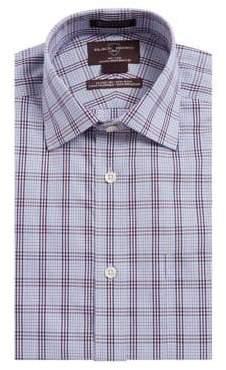 Black & Brown Black Brown Check Cotton Dress Shirt