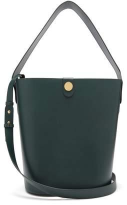 Sophie Hulme Swing Large Leather Bag - Womens - Dark Green