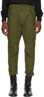 R 13 Green Surplus Military Cargo Pants