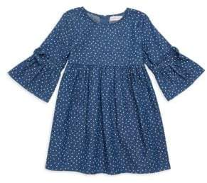Design History Little Girl's Polka Dot Heart Dress