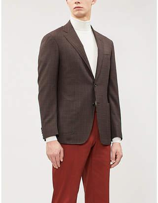 Canali Kei checked regular-fit wool blazer