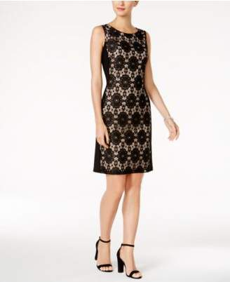 Nine West Lace-Panel Sheath Dress