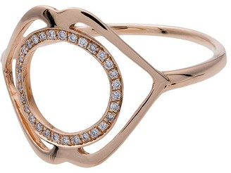Tinyom 18K rose gold diamond studded ring