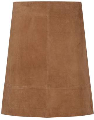 Elie Tahari Lexie Suede Skirt