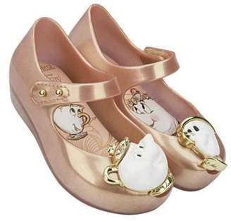 Mini Melissa Metallic Teacup Shoes $55 thestylecure.com