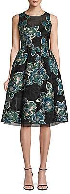 Laundry by Shelli Segal Women's Jacquard Fit-&-Flare Dress