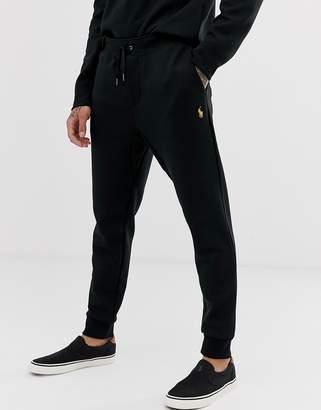 c62826d147d363 Polo Ralph Lauren Black & Gold Capsule joggers player logo in black