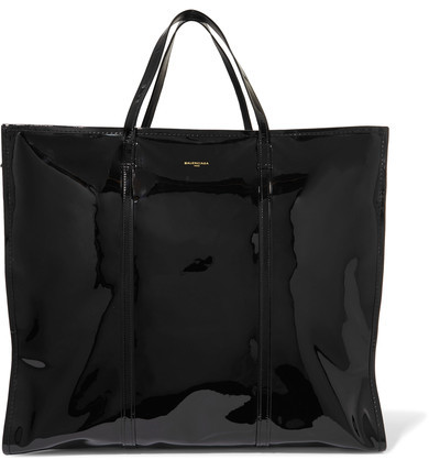 Balenciaga  Balenciaga - Bazar Xl Patent-leather Shopper - Black