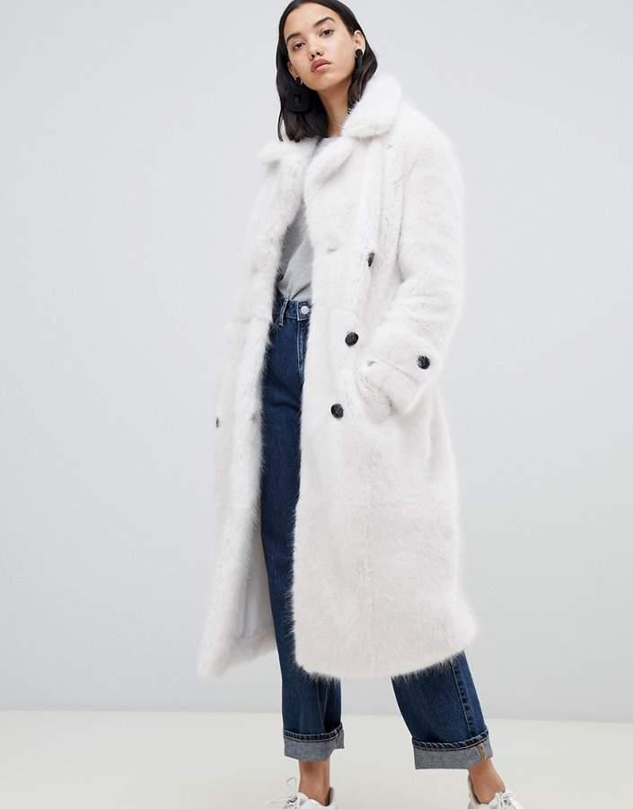Urbancode UrbanCode Fendora faux fur trench coat