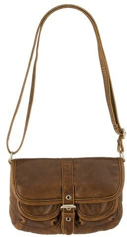 Xhilaration® 3-Pocket Cross-Body Bag - Brown