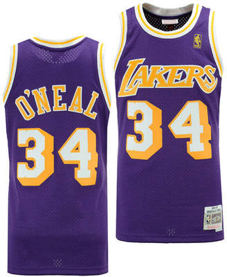 0d3e7390b65 Mitchell   Ness Big Boys Shaquille O Neal Los Angeles Lakers Hardwood  Classic Swingman Jersey