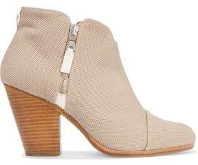 Rag & Bone Margot Leather-Trimmed Canvas Ankle Boots
