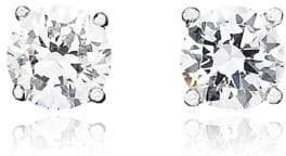 Crislu 1.00 cttw Brilliant Cut Cubic Zirconia Stud Earring
