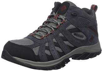 Sorel Columbia Men's YM5472 Hiking Boots, Waterproof, Canyon Point Mid Waterproof, Suede/Mesh, Grey (Charcoal/Garnet Red), Size 43