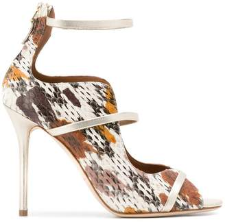 Malone Souliers textured stiletto sandals