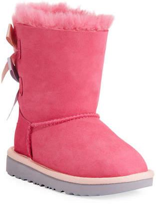 UGG Bailey Bow II Sheepskin Boot, Kid Sizes 13T-6Y