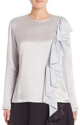 Tome Ruffle Front Shimmer Tee