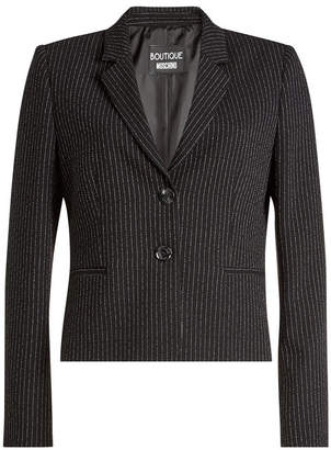Moschino Pinstriped Virgin Wool Blazer