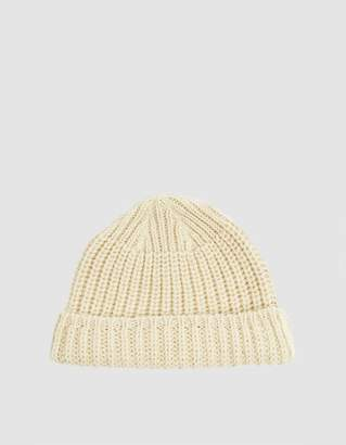 7b9e9481ee471 Our Legacy Knitted Wool Hat in Ivory