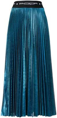 Roqa metallic pleated skirt