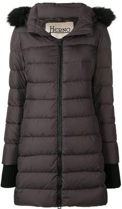 Herno faux-fur trimmed hood down jacket