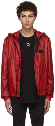 Givenchy Red Hooded Windbreaker