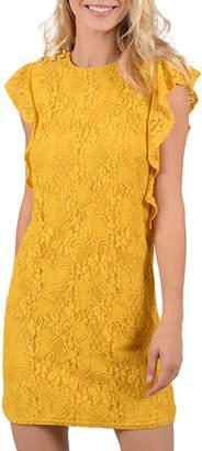 Molly Bracken Ruffle Lace Shirt Dress