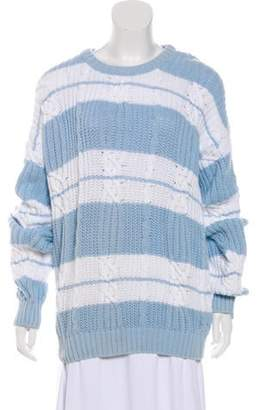 Christian Dior Cable Knit Striped Sweater Cable Knit Striped Sweater
