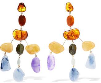 Cult Gaia Sloane Oversized Acrylic Earrings - Purple