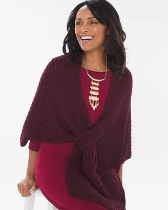 Chico's Chicos Ribbed Wrap