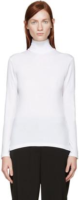 Yohji Yamamoto White Turtleneck Shirt $490 thestylecure.com
