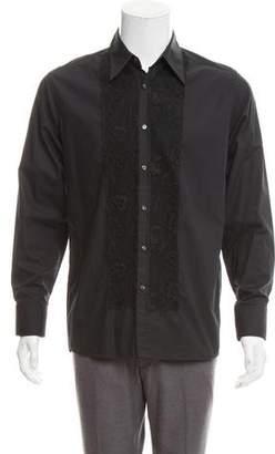 Paul & Joe Lace Combo Button-Up Shirt