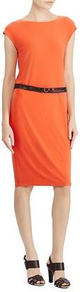 Lauren Ralph Lauren Belted Jersey Dress $125 thestylecure.com